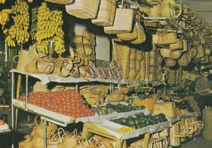 Madeira Funchal Fruit Market Spanish Vegetable Traders Postcard