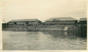 Belgian Congo real photo barracks