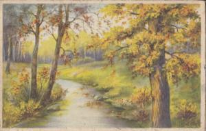Postcard autumnal landscape 1942