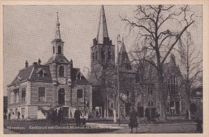 HILVERSUM, Noord-Holland, Netherlands, 1900-1910s; Kerkbrink Met Gooisch Muse...
