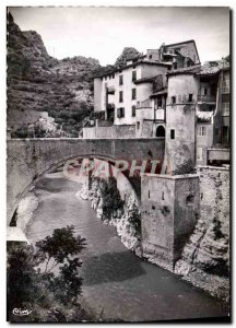 Postcard Modern City Entrevaux fortified by Vauban View of the drawbridge and...