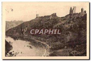 Old Postcard I Crozant (Creuse) Ruins of Cheateau and Sedelle