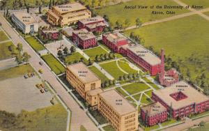 University of Akron OH~Aerial View Colby~Simmons~Knight~Buchtel~Ollin~Ayer 1955