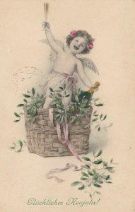 AS; M.M. Vienne Nr 523 (M MUNK) #3 , 00-10s ; Baby New Year, Gluckliches Neujahr