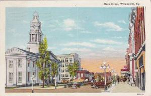 Main Street, Wichester, Kentucky, PU-1949