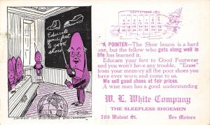 Des Moines Fantasy~Cartoon Shoe Teacher~Globe~Cundiff~Dunce Cap 1911