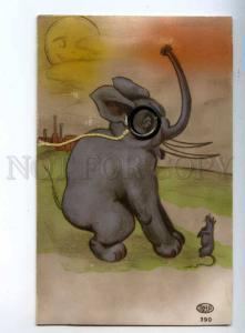 244108 Huge ELEPHANT Real MONOCLE & Mouse Vintage COMIC PC
