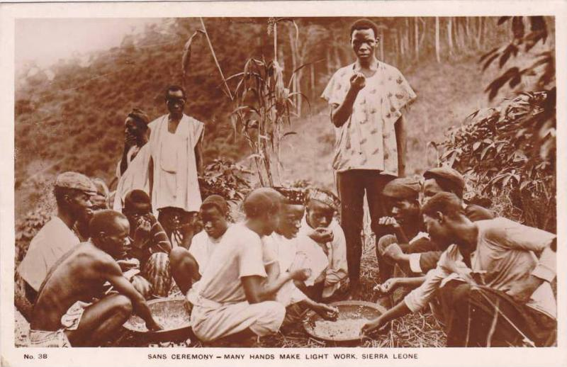 RP, Sans Ceremony- Many Hands Make Light Work, Eating A Meal, Sierra Leone, A...