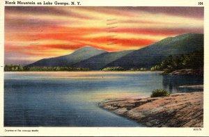 New York Lake George Black Mountain 1949