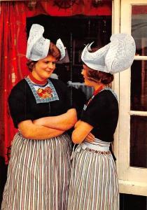 Netherlands Volendam Women in Traditional Costume Holland