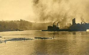 Mystery Harbor with Boats - RPPC