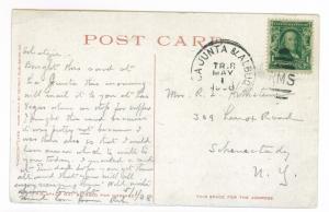 La Junta & Albuqueque RPO to Schenectady, New York 1908 used, Pike's Peak