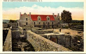 New York Fort Ticonderoga View Of Fortifications