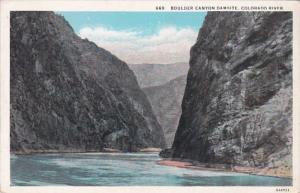 Colorado Boulder Canyon Damsite On Colorado River