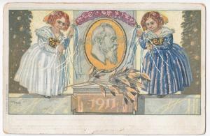 Germany; Prince Luitpold, Bavaria, 1911 PPC, Artist Julius Diez, P. Oscar Consee