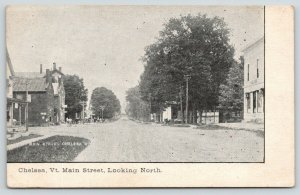 Chelsea Vermont~Two Dutch Buildings~Mascoma Hall (Bank)~c1910 Postcard~B&W