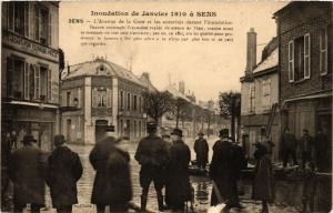 CPA  Inondation de Janvier 1910 á Sens - Sens - L'Avenue de la Gare et  (358664)