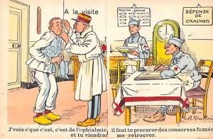 Military Comic Postcard, Old Vintage Antique Post Card Defense De Cracher, A ...