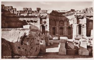 Baalbeck Baalbek Lebanon Emicyclere De La Grande Cour Temple Real Photo Postcard