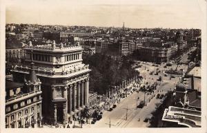 Spain Madrid Calle de Alcala Street Tram Cars Panorama
