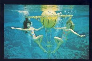 Weeki Wachee, Florida/FL Postcard, Two Mermaids With Aquatic Prop