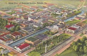 Virginia Pulaski Aerial View Of Business Section