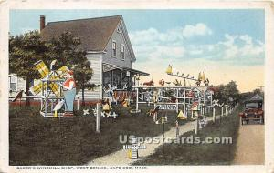 Baker's Windmill Shop at West Dennis Cape Cod MA 1923