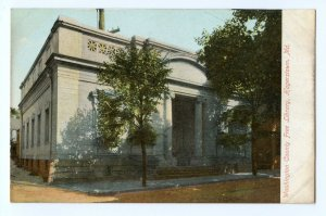 PRE 1906 HAGERSTOWN MARYLAND WASHINGTON COUNTY FREE LIBRARY ANTIQUE POSTCARD