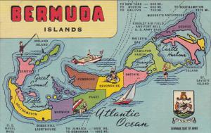 Map Of The Bermuda Islands