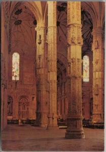 LISBOA, Portugal, Mosteiro dos Jeronimos Monastery, Interior, unused Postcard