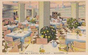 ALEXANDRIA, Louisiana, 1930-1940's; Coffee Shop, Hotel Bentley