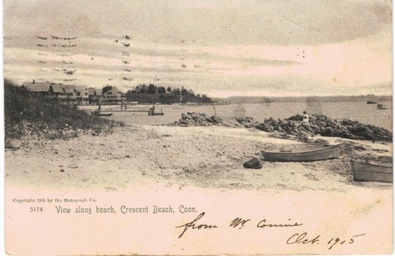Crescent beach ct beach scene monochrome rotograph 1907 hippostcard crescent beach ct beach scene monochrome rotograph 1907 sciox Choice Image