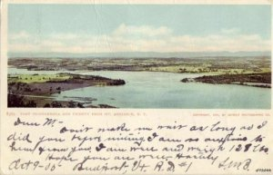 VIEW OF FORT TICONDEROGA FROM MT. DEFIANCE, NY 1905