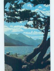 Pre-1980 LAKE SCENE Waterton Park - Near Lethbridge Alberta AB F3951