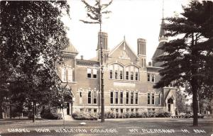 C51/ Mt Pleasant Iowa Ia Real Photo RPPC Postcard c40s Chapel Wesleyan College