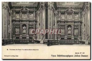 Old Postcard Tomb of Paul V St. Mary Major