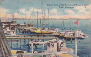 Typical View Of The Shrimp And Oyster Industry Biloxi Mississippi 1951
