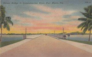 FORT MYERS, Florida, 1930-40s; Edison Bridge, Caloosahatchee River