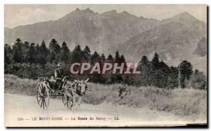 Old Postcard Le Mont Dore La Route du Sancy car has ane