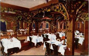 New Orleans LA~Fabachers Restaurant Interior~Ladies Grape Arbor~1908 Adv PC