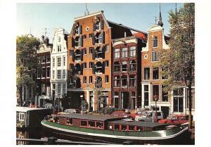 Netherlands Brouwersgracht Amsterdam Bateau Boat Street Cars Voitures