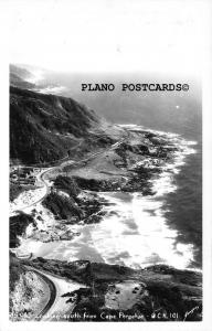 YACHATS, OREGON LOOKING SOUTH FROM CAPE PERPETUA  REAL PHOTO POSTCARD
