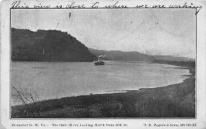 F23 Moundsville West Virginia Postcard 1907 Ohio River Steamer 3