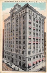 St Louis Missouri~National Bank Of Commerce Building~1920 Postcard