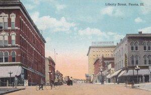 PEORIA, Illinois, 1900-10s; Looking Down Liberty Street