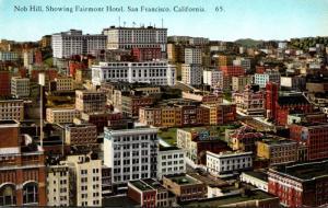 California San Francisco Nob Hill Showing Fairmont Hotel
