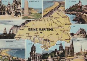 Map Of Seine Maritime France Multi View