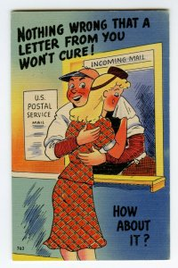 Postcard Nothing Wrong That A Letter From You Won't Cure Standard View Card