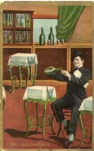 Wilson Liquor Advertisement - I Wil-son be there