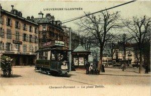 CPA CLERMONT-FERRAND La Place Delille (374708)